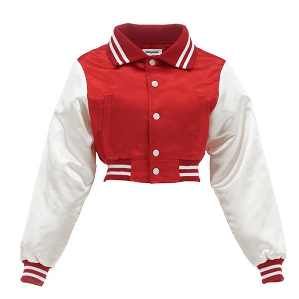 Button-up Short Baseball Jacket