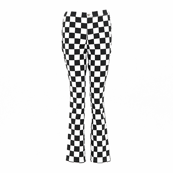 Checkerboard 90s Silhouette Pants